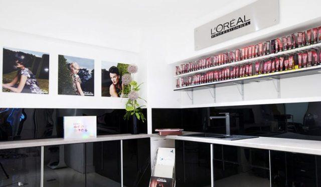 inside award winning esente hair salon in wimbledon