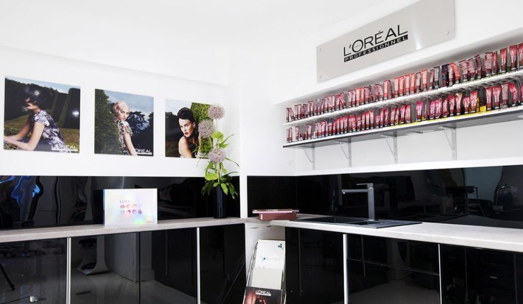 inside award winning esente hair salon in wimbledon