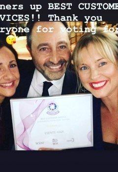 runners-up-best-customer-service-Merton-Business-Awards-2019-esente-hair-salon-wimbledon